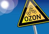 Caution Ozone, Smog — Stock Vector