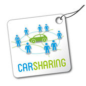Carsharing Label — Stock Vector