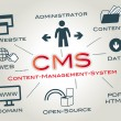 CMS Content Management System — Vector de stock