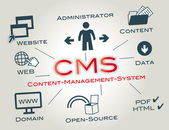 CMS Content Management System — Stock Vector