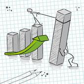 Teamwork, growth — Stock Vector