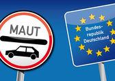 Samochód bije niemcy — Wektor stockowy