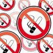 No smoking, stop smoking — Stock Vector