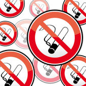 No smoking, stop smoking — Stock Vector