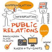 Public relations — Stock Vector