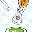 Ideas, success, goal — Imagen vectorial