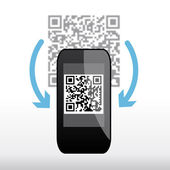 Scan qr code — Vector de stock