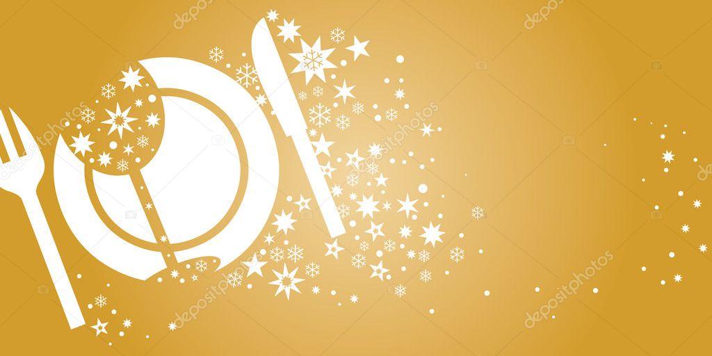 Invitation, dinner voucher golden colour, surprise — Stock Vector ...