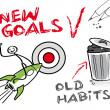New goals, old habits — Stockvector
