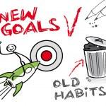 New goals, old habits — Stock Vector
