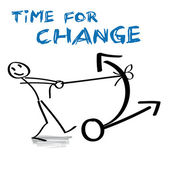 Time for Change — Vector de stock