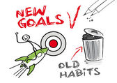 New goals, old habits — Stock Vector