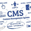 Stock Vector: CMS Content Management System, Doodle