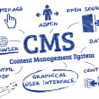 CMS Content Management System, Doodle — Stock Vector #36633379
