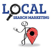Local Search Marketing — Stock Vector