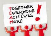 Teamwork Together — Stock Vector