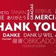 Thank You multilingual red — Stok Vektör #37644235