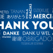 Stockvector : Thank you blue