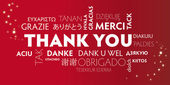 Thank You multilingual red — Stock Vector