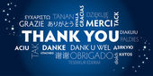 Thank you blue — Vector de stock