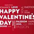 Happy Valentines red background — Vettoriale Stock