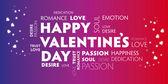Happy Valentines colourful  — Stock Vector
