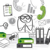 Burnout, Stress at work — Stock Vector
