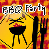 Barbecue Party, invitation — Stock Vector