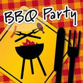 Barbecue Party, invitation — Stock Vector
