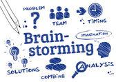 Brainstorming, Problem solving, Scribble — Stock Vector