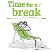 Time for a break — Stock Vector