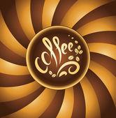 コーヒー カップ。コーヒー豆 — ストックベクタ