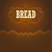 Bakery . For labels, pack for bread, baguette, loaf, cake, baked, croissant, bun — Vector de stock
