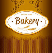 Bakery . For labels, pack for bread, baguette, loaf, cake, baked, croissant, bun — Stock vektor