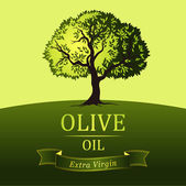 Olive tree . Vector decorative olive tree. For labels, pack. — Wektor stockowy