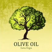 Olivovník. vektorové dekorativní olivovníku. pro popisky, pack. — Stock vektor