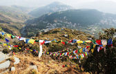 Panorama of Bagsu. McLeod Ganj. Himalaya. India — Stock Photo