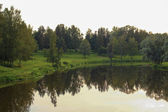 Pavlovsk Park lake and trees — Foto Stock