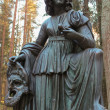 Stock Photo: Melpomene, Muse Statue in Pavlovsk Park