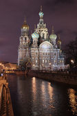 The Saviour on the blood at Night in Saint-Petersburg — Stock Photo