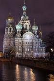 The Saviour on the blood at Night in Saint-Petersburg — Zdjęcie stockowe