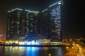 One Central Building at Night in Macau — Stock Photo