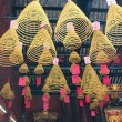View with Chinese Candles in Lin Fung Temple (Temple of Lotus) — 图库照片