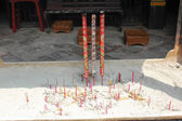 View with Chinese Candles in  Lin Fung Temple (Temple of Lotus)  — Stock Photo