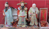Chinese Holy mans at Sam Seng Temple — Foto Stock