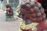 китайский guardian лев. сэм сенг храм в макао — Стоковое фото