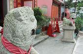 Leões de guardião chinês. Tam templo kung em macau — Fotografia Stock