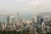 Panorama of Hong Kong from Victoria Gap, near the top of Victori — Stock Photo