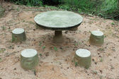 Stone Table and chairs in Coloane Park — Zdjęcie stockowe