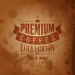 Retro Vintage Coffee Background with Typography — 图库矢量图片 #42616721